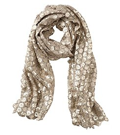 Collection 18 Fancy Floral Sequin Neck Wrap