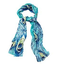Collection 18 Peacock Oblong Scarf