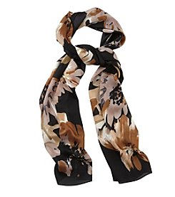 Collection 18 Brushstroke Garden Oblong Scarf