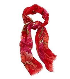 Collection 18 Brushstroke Garden Neck Wrap