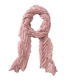 Collection 18 Lurex Pleated Slimmy Scarf