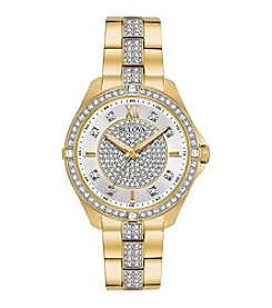 Bulova® Women's Goldtone Crystal Watch