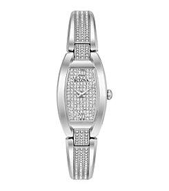 Bulova® Woman's Bangle Bracelet Crystal Watch
