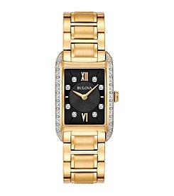 Bulova® Women's Goldtone Diamond Dial Watch