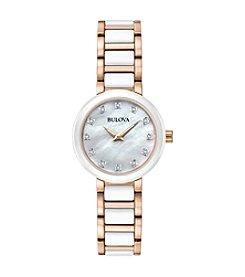 Bulova® Women's Two-Tone Diamond Dial Watch
