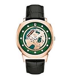 Bulova® Men's Accutron II Black Leather Strap Watch