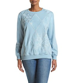 Alfred Dunner® Plus Size Northern Lights Print Knit Top