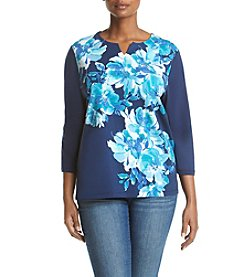 Alfred Dunner® Plus Size Adirondack Trail Print Knit Top