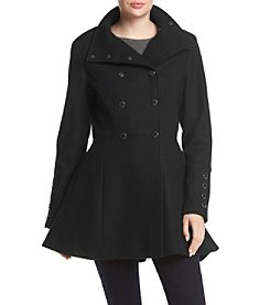 Calvin Klein Military Fit And Flare Coat