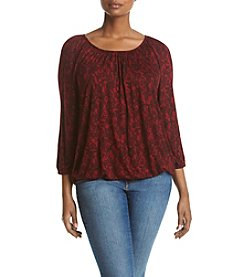 MICHAEL Michael Kors® Plus Size Lace Peasant Top