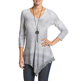 Oneworld® V-Neck Fringe Top