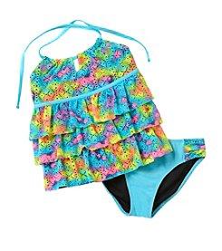 Miss Attitude Girls' 7-16 Halter Tankini Swimsuit