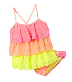 Miss Attitude Girls' 7-16 Cutie Tiered Tankini