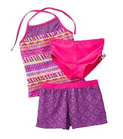 Miss Attitude Girls' 7-16 Short Set