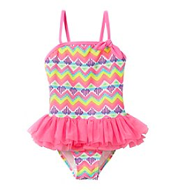 Miss Attitude Girls' 4-6X Chevron Dance 1-Piece Tulle Tutu