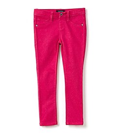 Squeeze® Girls' 4-6X Allover Glitter Roll Cuff Skinny Jeans