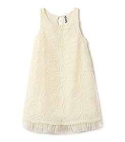 Beautees Girls' 7-16 Tool Hem Shift Dress