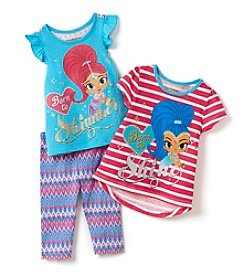 Nickelodeon® Girls' 2T-6X 3-Piece Shimmer And Shine Tee And Leggings Set
