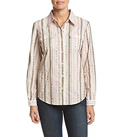 Alfred Dunner® Long Sleeve Equipment Woven Top