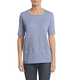Alfred Dunner® Solid Shell Sweater