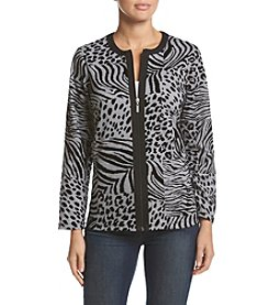 Alfred Dunner® Animal Flocked Jacket