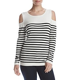 August Silk® Cold Shoulder Pullover
