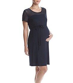 Three Seasons Maternity™ Lace Yoke Dress