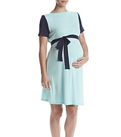 Three Seasons Maternity™ Color Block Knit Dress