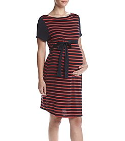 Three Seasons Maternity™ Colorblock Stripe Dress