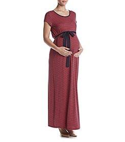 Three Seasons Maternity™ Stripe Maxi Dress