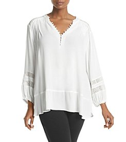 Democracy Plus Size Button Front Blouse