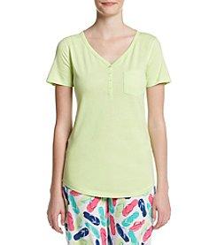 Relativity® Short Sleeve Knit Sleep Henley