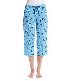 Relativity® Print Knit Sleep Capri Pants