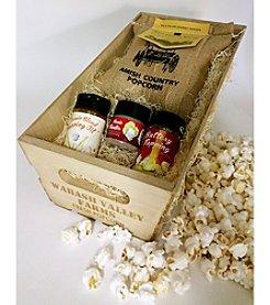 Wabash Valley Farms Burlap Popcorn Gift Set