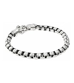 Stainless Steel Round Box Chain Bracelet with Fancy Clasp