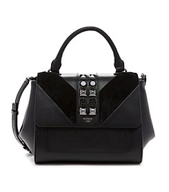 GUESS Evette Top Handle Flap Handbag