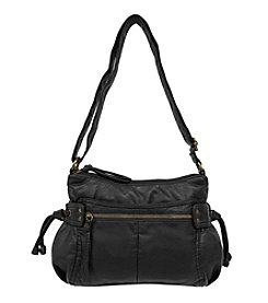 GAL Washed  Double Top Zip Hobo Crossbody