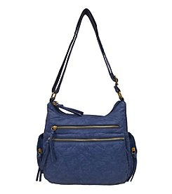 GAL Elephant Textured Washed Multi Pocket Crossbody