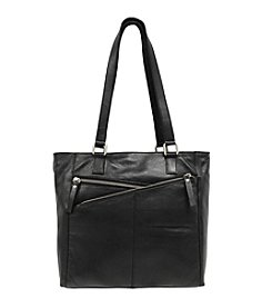 GAL Double Cross Zip Front Tote