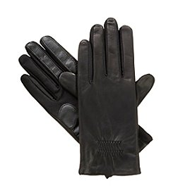 Isotoner Signature® Gathered Leather Gloves
