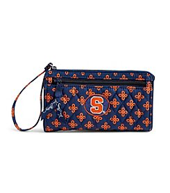 Vera Bradley® NCAA® Syracuse Orange Front Zip Wristlet