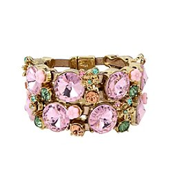 Betsey Johnson® Mixed Faceted Stone Bracelet