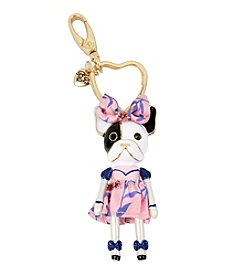 Betsey Johnson® Puppy Girl Keychain