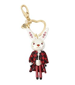 Betsey Johnson® Bunny Keychain