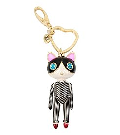 Betsey Johnson® Striped Cat Girl Keychain