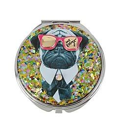 Betsey Johnson® Pug Glitter Mirror Compact