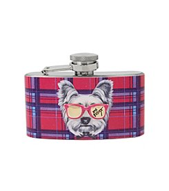 Betsey Johnson® Plaid Dog and Sunglasses Flask