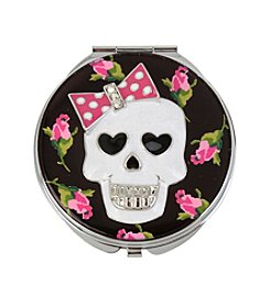 Betsey Johnson® Skull Rose Printed Mirror Compact