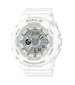 Baby-G Women's White Analog-Digital Watch