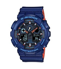 G-Shock Men's Blue Analog-Digital Watch with Layered Resin Band